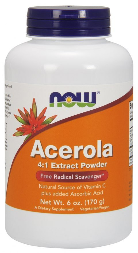 NOW FOODS Acerola 4:1 Extract Powder 170g