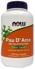 NOW FOODS Pau D'arco 500mg. 250vcaps.